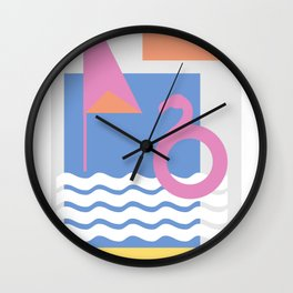 Spainish Beach Wall Clock