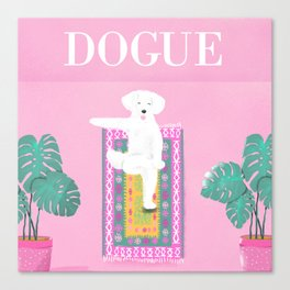 Dogue - Yoga Canvas Print