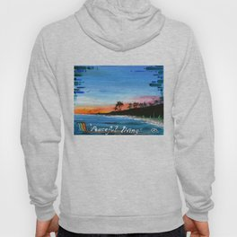 """PEACEFUL LIVING""  Hoody"