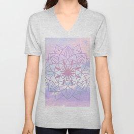 Star Mandala Unicorn Pastel Clouds #1 #decor #art #society6 Unisex V-Neck