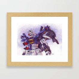 Gundam GP01 Framed Art Print
