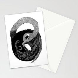 bird women 3 Stationery Cards