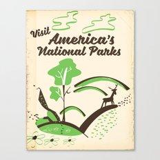 Visit America's National Parks vintage poster Canvas Print