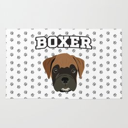 Boxer Love Rug