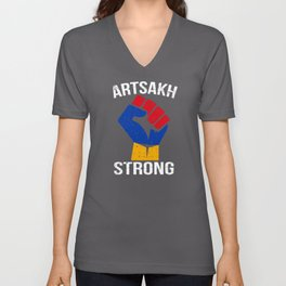 Artsakh Strong - Artsakh is Armenia - Armenian Unisex V-Neck