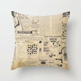Ladies in the Fifties Throw Pillow