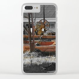 Old Boat in dry land Clear iPhone Case