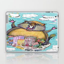 Giant Punxsutawney Phil (Philzilla) Attacks Pennsylvania! Laptop & iPad Skin