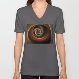 Fractal Depth And Warmth Unisex V-Neck