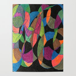 Intertwining Circles Poster
