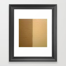 Imperfect Smooth VS Orange Peel Textures Framed Art Print