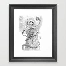 Astro Babe B&W Framed Art Print