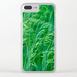 Blowing Green Clear iPhone Case