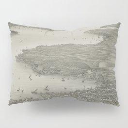 Vintage Pictorial Map of Lake Geneva WI (1882) Pillow Sham