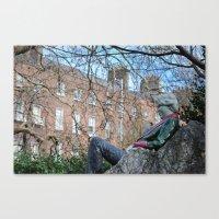 oscar wilde Canvas Prints featuring Oscar Wilde by Psphotographydublin