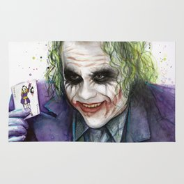 Joker Why So Serious Watercolor Rug