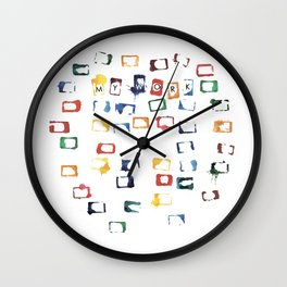 White Aqua Wall Clock