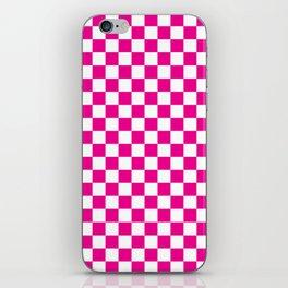 Pink Checkerboard Pattern iPhone Skin