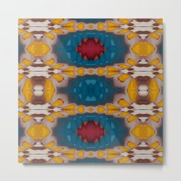 New Color Pyramidal Mandala 73 - Pattern 2 Metal Print