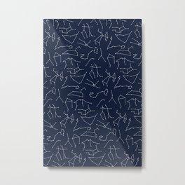 Zodiac Signs | Astrology | Sapphire Blue | Constellations | Stars Metal Print