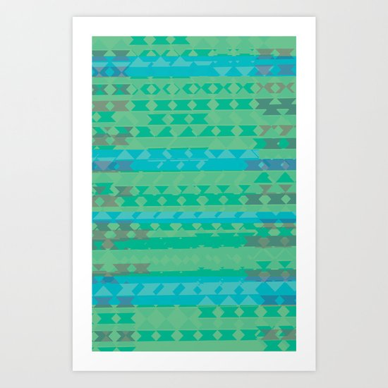 Summertime Green Art Print