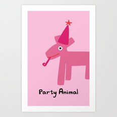 Party Animal-Pink Art Print