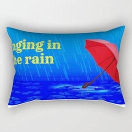 Singing in the Rain Rectangular Pillow