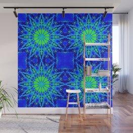 Green & Blue Starburst Series Wall Mural