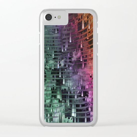 Spatial Factor 101 / Texture 30-10-16 Clear iPhone Case