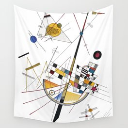 Kandinsky Delicate Tension No. 85, 1923 Artwork Reproduction, Design for Posters, Prints, Tshirts, Men, Women, Kids, Youth Wall Tapestry