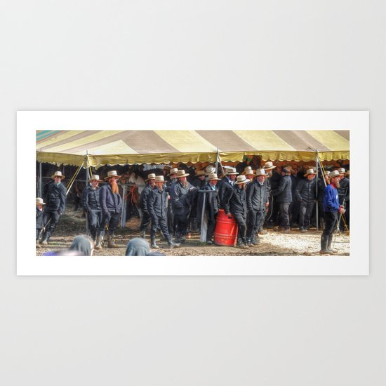 Amish Horse Auction Art Print