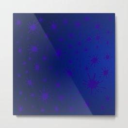 blue spots on blue background Metal Print