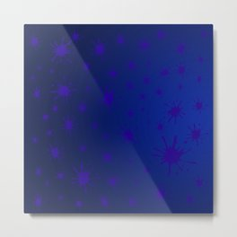 blue spots on blue background Metal Print