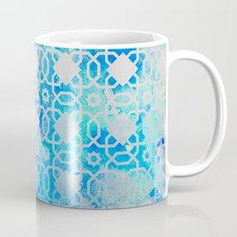Elegant Islamic Geometric Blue Pattern Coffee Mug