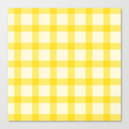 Yellow Lines Pattern Canvas Print