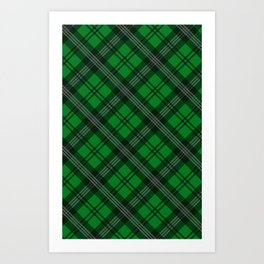 Scottish Plaid (Tartan) - Green Art Print