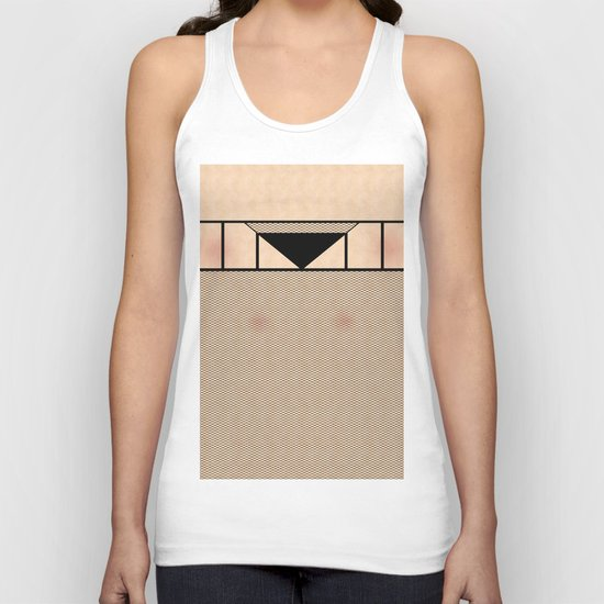 Fishnet Stockings and Black Knickers Unisex Tank Top