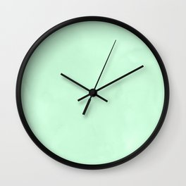 Sea Green Watercolor Wall Clock
