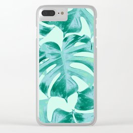 Tropical Monstera Leaves Dream #4 #tropical #decor #art #society6 Clear iPhone Case