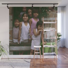 How Many Can We Squeeze into One Hut Wall Mural