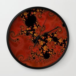 Fanning The Flames Wall Clock