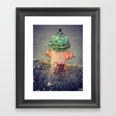 Hydrant Of Fire Framed Art Print