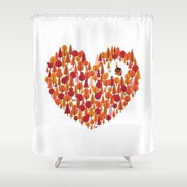 Wild at Heart Shower Curtain