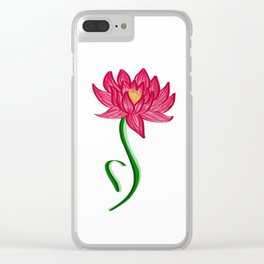ED Lotus Clear iPhone Case