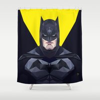 bat man Shower Curtains featuring Bat man by Muito