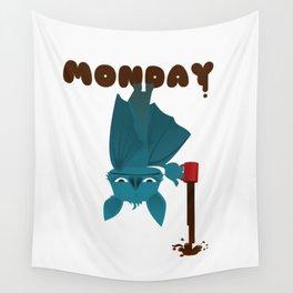 Bat Monday Wall Tapestry