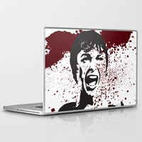 hitchcock Laptop & iPad Skins featuring Hitchcock Inspired Art  by pithyPENNY