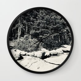 The Beach in Black and White Wall Clock
