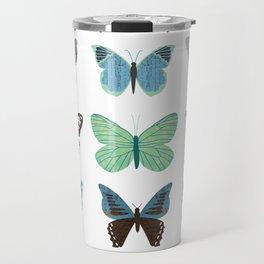 Green and Blue Butterflies Travel Mug