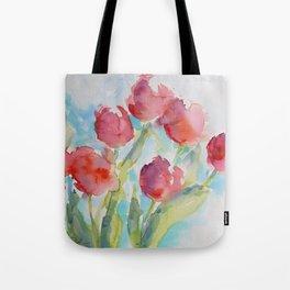 Tulips (watercolor) Tote Bag